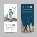 Vektorillustrationer av New York City Royaltyfri Bild