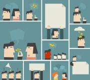 Vektorillustrationer med folk Fotografering för Bildbyråer
