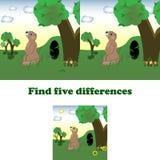Vektorillustrationfynd fem skillnader vektor illustrationer
