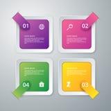 Vektorillustrationinfographics av fyrkanter royaltyfri illustrationer