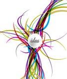 Vektorillustrationledningsnät som förbinder till idésymbolen Royaltyfri Bild