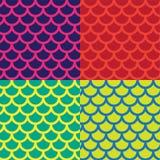 Vektorillustrationmodell eller tapet på den ljusa mångfärgade bakgrunden med diagram av en halvcirkel och våg Royaltyfria Foton