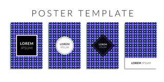 Vektorillustrations-Abdeckungssatz Hintergrund mit geometrischer blauer Kreisform Lizenzfreie Stockfotografie