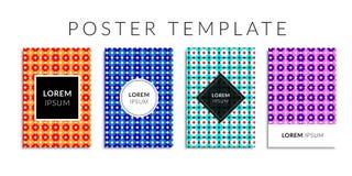 Vektorillustrations-Abdeckungssatz Hintergrund mit geometrischer bunter Kreisform Lizenzfreie Stockfotos