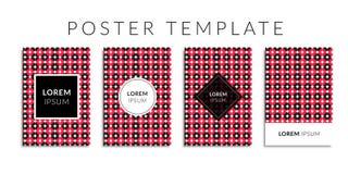 Vektorillustrations-Abdeckungssatz Hintergrund mit geometrischer roter Kreisform Lizenzfreie Stockfotos