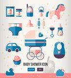 Vektorillustrations-Babypartyikone für Stockbild