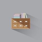 Vektorillustrations-Bibliothekskatalog von Büchern Lizenzfreie Stockfotos