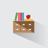 Vektorillustrations-Bibliothekskatalog von Büchern Stockbild
