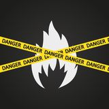 Vektorillustrations-Gefahrenband brennbar Lizenzfreies Stockfoto