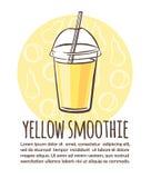 Vektorillustrations-Gelb Smoothie vektor abbildung