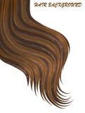 Vektorillustrations-Haarhintergrund gemalt im Aquarell Stockfotos