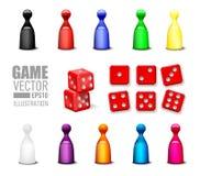 Vektorillustrations-Spielikonen eingestellt vektor abbildung