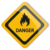 Vektorillustrationsaufkleber brennbar Lizenzfreie Stockfotos