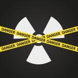 Vektorillustrationsband-Strahlungsgefahr Lizenzfreie Stockfotografie