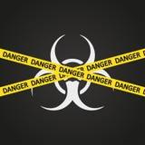 Vektorillustrationsgefahrenband Biohazard Stockbild
