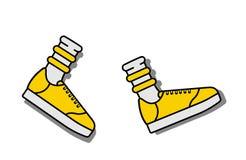 Vektorillustrationsikone von Socken und von Sportlaufschuhen stock abbildung