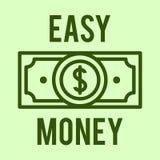 Vektorillustrationskonzept des Dollars des flüssigen Geldes Ikone auf grünem Hintergrund lizenzfreie abbildung