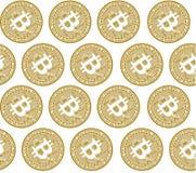 Vektorillustrationskonzept des Schlüsselmünzensymbols Bitcoin Schwarzes auf weißem Hintergrund stock abbildung