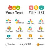 Vektorillustrationskonzept des Spracheblasenlogos Farbe auf weißem Hintergrund stock abbildung