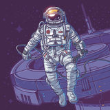 Vektorillustrationskosmonaut Lizenzfreie Stockbilder