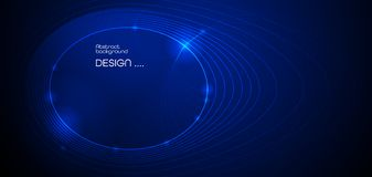 Vektorillustrationsmolek?l, schloss Linien mit Punkten, Technologie auf blauem Hintergrund an Abstrakter Internet-Verbindungsentw vektor abbildung