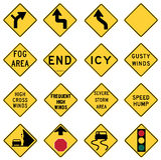 Der Verkehr Warnzeichen herein die Vereinigten Staaten stock abbildung