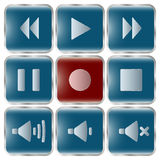 Vektorillustrationssatz Ikonen für Musik Lizenzfreies Stockfoto