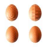 Vektorillustrationuppsättning av ägg i polygonal stil Royaltyfri Fotografi