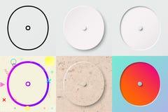 Vektorillustrationuppsättning av gullig djärv rundad bokstavsnolla med olik lutningeffekt och genomskinlig skugga royaltyfri illustrationer