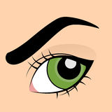Vektorillustratoin av det gröna ögat vektor illustrationer