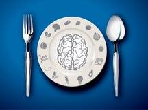 Vektorillustrator des Lebensmittels für Gehirn Stockfoto