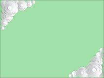 Vektorinbjudankort med det blom- elementet Fotografering för Bildbyråer