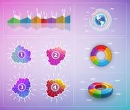 Vektorinfographic Elemente Stockbild