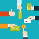 Vektorinfographic Finanzflussdiagramm lizenzfreie abbildung