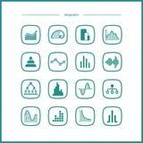 VektorInfographic symboler Arkivbilder