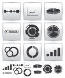VektorInfographics set symbol. Swirllinje graf Royaltyfri Fotografi