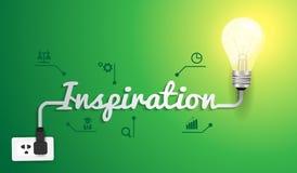 Vektorinspirationskonzept mit Glühlampeidee Lizenzfreie Stockfotografie