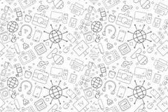 Vektorinternet av sakermodellen Internet av sömlös bakgrund för saker vektor illustrationer