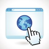 Vektorinternet-Konzept Lizenzfreies Stockbild