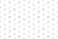 Vektorinternetmodell Sömlös bakgrund för internet royaltyfri illustrationer