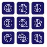 Vektorinternetsymboler royaltyfri illustrationer