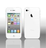 VektorIphone 4 Weiß Lizenzfreies Stockfoto