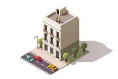 Vektorisometrisches Gebäude Stockfotos