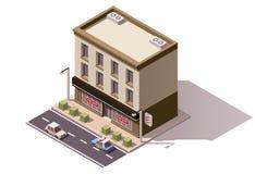 Vektorisometrisches Gebäude Lizenzfreies Stockfoto