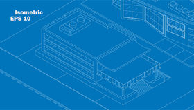 Vektorisometrisches Geschäftsgebäude lizenzfreie abbildung