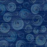 Vektorjeansbakgrund med blommor Sömlös modell för grov bomullstvill blå tygjeans blom- grunge för bakgrund Arkivbild