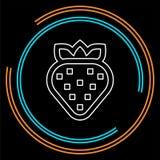 Vektorjordgubbesymbol, ny jordgubbefrukt vektor illustrationer