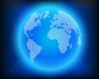 Vektorjordklotsymbol av världen Royaltyfria Bilder