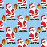 Vektorjul och sömlös modell för nytt år med Santa Claus claus santa vektor Royaltyfri Foto