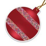 Vektorjulboll med pärlor Royaltyfria Bilder